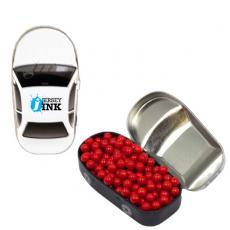 Candy, Food & Gifts - Car Mint Tin with Colored Candy