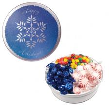 Candy, Food & Gifts - The Royal Tin with Mints, Jelly Beans & Hard Candy-Snowflake