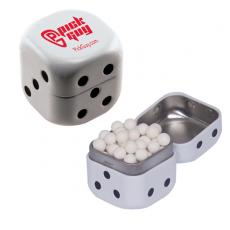 Candy, Food & Gifts - Dice Mint Tin with Signature Peppermints