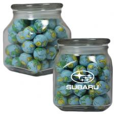 Candy, Food & Gifts - Apothecary Jar with Chocolate Sports Balls - Glass Jar