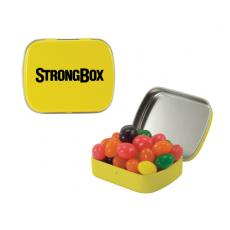 Candy, Food & Gifts - Small Yellow Mint Tin with Jelly Bean