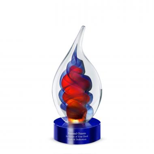 Swirling Flames Art Glass Award