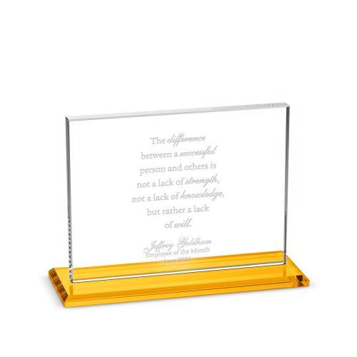Horizontal Emperor Dais Crystal Award