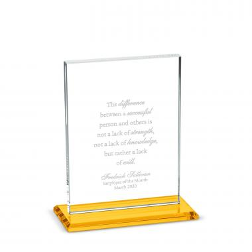Vertical Emporer Dais Crystal Award