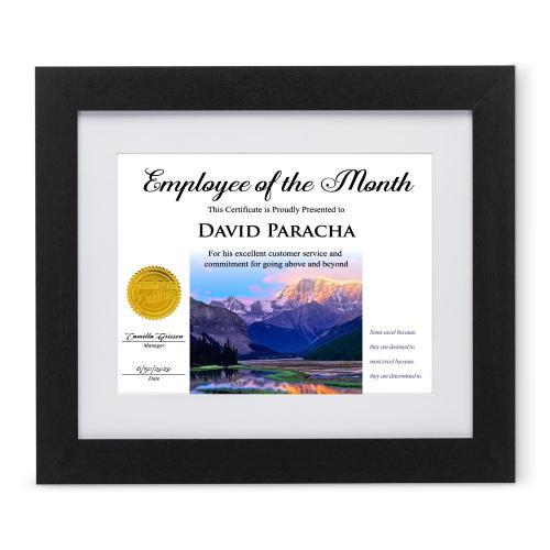 Success Wood Certificate Frame