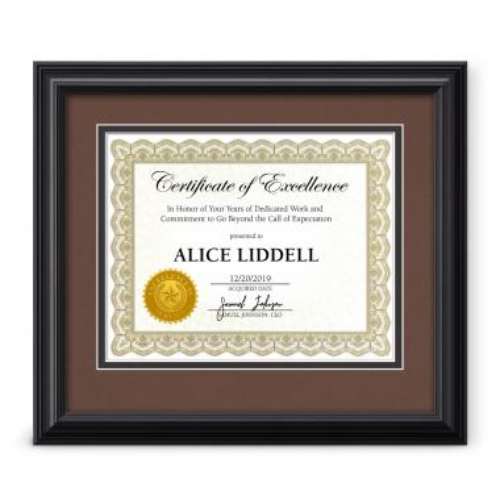 Destiny Wood Certificate Frame