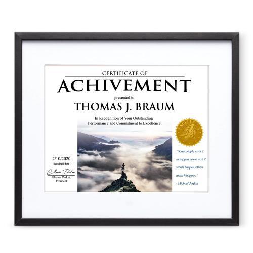 Determination Metal Certificate Frame