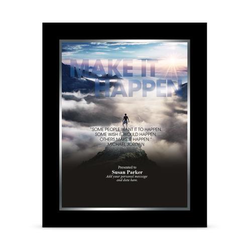 Make It Happen Mountain Infinity Award Plaque