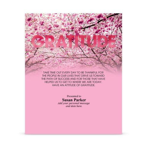Gratitude Cherry Blossoms Infinity Award Plaque