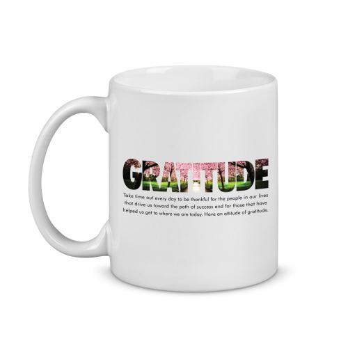 Gratitude Cherry Blossoms Image Mug