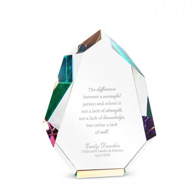 Chiseled Prism Crystal Award