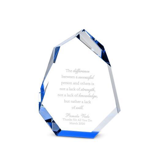 Chiseled Peak Crystal Award