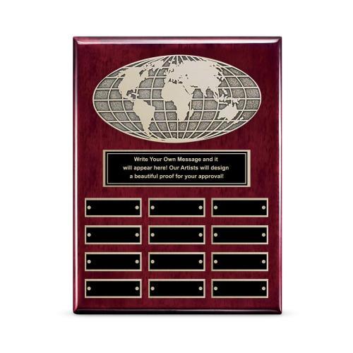 Globe Perpetual Plaque