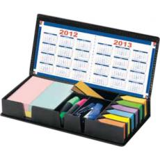 Office Supplies - Assistant multi purpose leatherette box with sticky notes