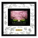 Gratitude Cherry Blossoms Framed Signature Motivational Poster