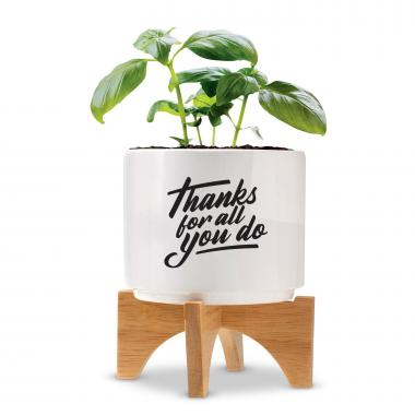 Thanks for All You Do Planter with Stand