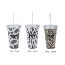 Sports & Outdoors - 16 oz. Glitter Slurpy Tumbler with straw