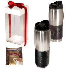 Home & Family - Leather-Wrapped Tumbler with Ghiradelli<sup>®</sup> Hot Cocoa