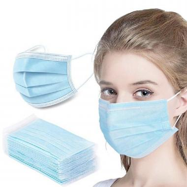 BULK RUSH 3-Ply Disposable Face Masks - Blank