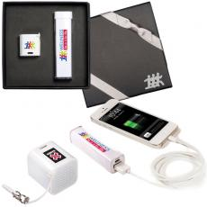 Technology & Electronics - Micro-Boom Speaker & Econo Mobile Charger Gift Set