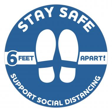 SIGNAGE Social Distancing Decal