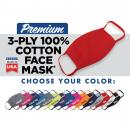 MADE IN USA 3-ply Cotton Color Masks