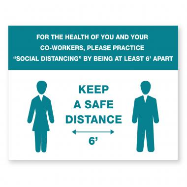Safe Distance - Wall Sign