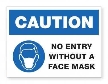 No Entry without Mask - Wall Sign