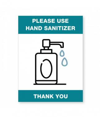 Use Hand Santizer - Wall Sign