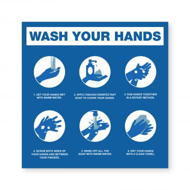Wash Your Hands - Wall Sign