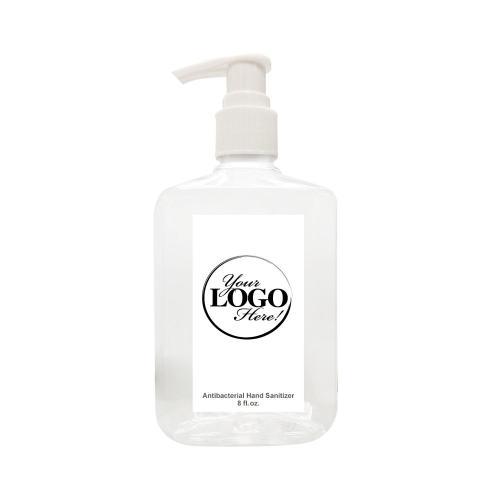 8 Oz. Hand Sanitizer Pump Bottle - Custom Logo Label