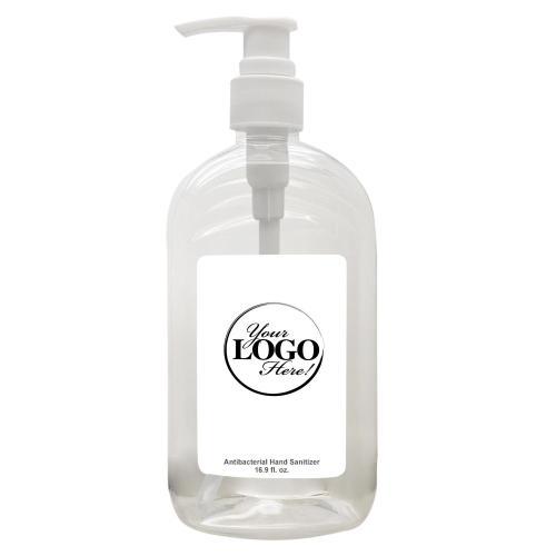 16 Oz. Hand Sanitizer Pump Bottle - Custom Logo Label