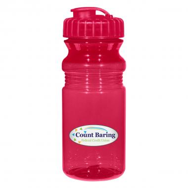 20 Oz. Poly-Clear™ Fitness Bottle With Super Sipper Lid