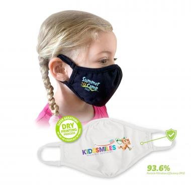 Eco-Friendly 2-ply YOUTH Face Mask Full Color Custom