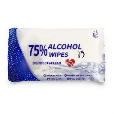 75% Alcohol Hand Wipes - 10 Pack