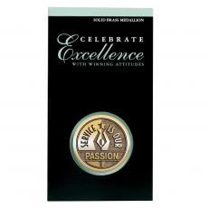 Service Is Our Passion Brass Medallion