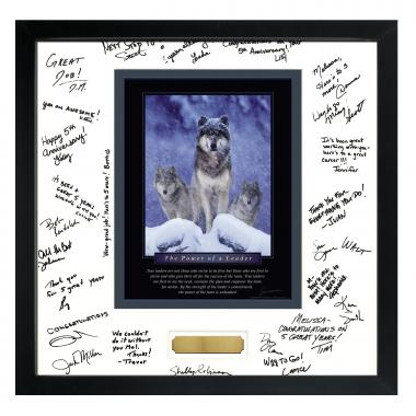 Power of A Leader Framed Signature Motivational Poster