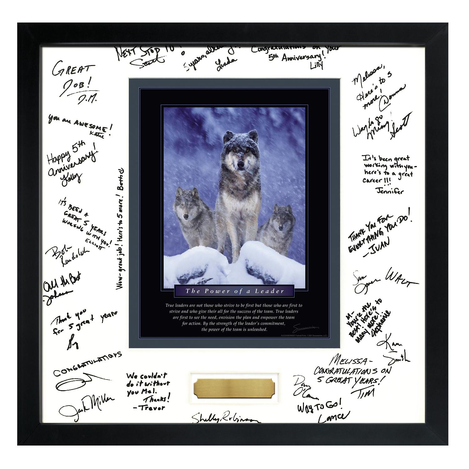 signature frames power of a leader framed signature motivational poster