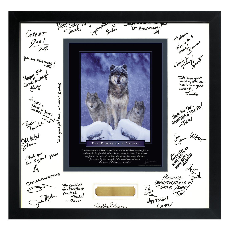 Signature Frames | Power of A Leader Framed Signature Motivational ...