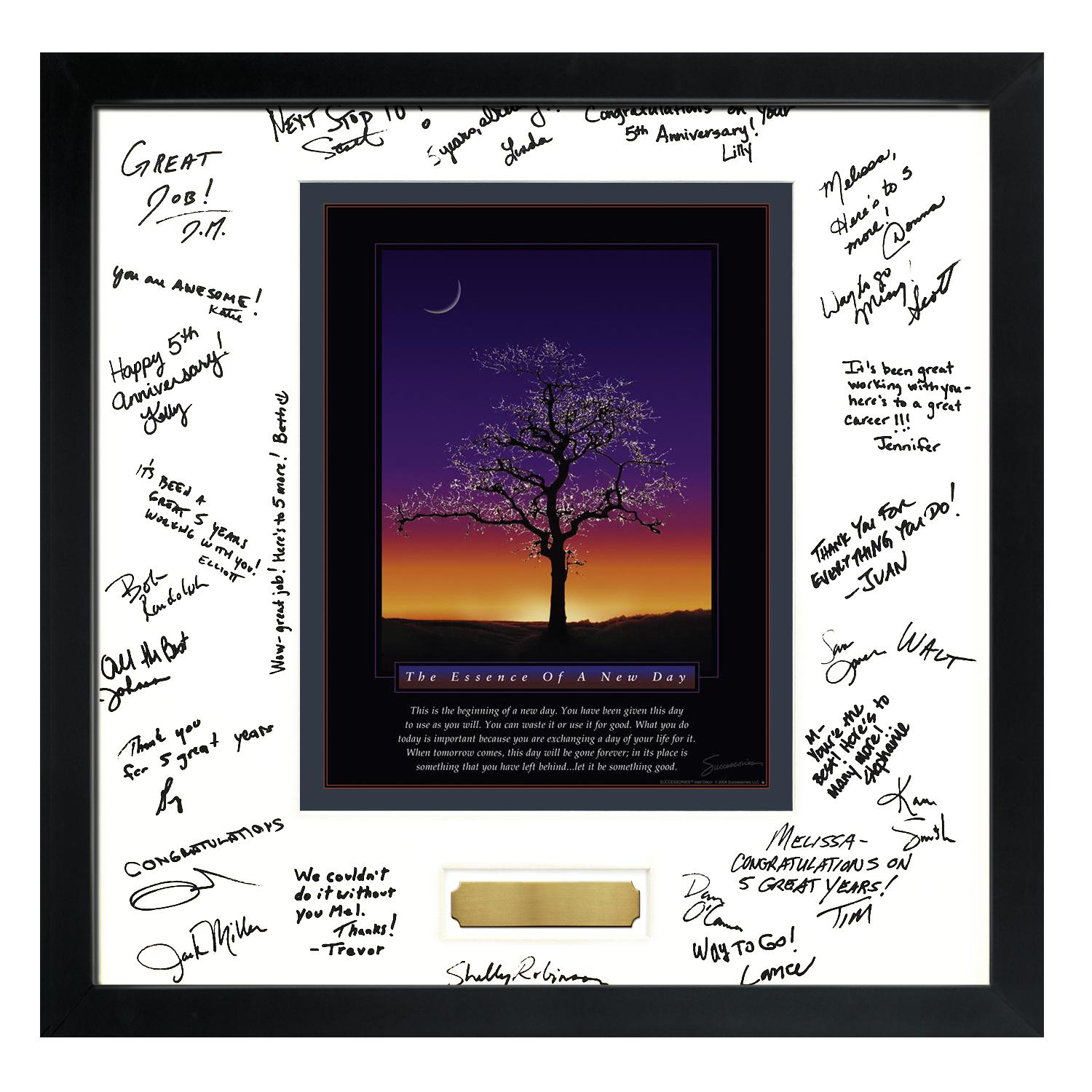 Signature Frames | Essence of A New Day Framed Signature ...