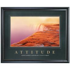 Attitude Watercliff Motivational Poster