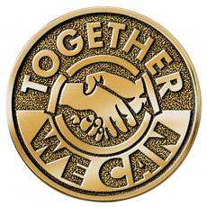 Brass Medallions - Together We Can Brass Medallion