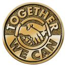 Together We Can Brass Medallion