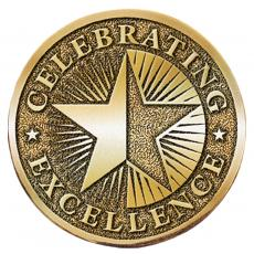 Celebrating Excellence Brass Medallion Corporate Gift