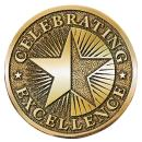 Celebrating Excellence Brass Medallion