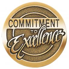 Commitment to Excellence Brass Medallion Corporate Gift