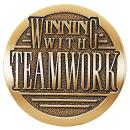 Winning with Teamwork Brass Medallion