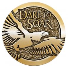 Dare to Soar Brass Medallion Corporate Gift