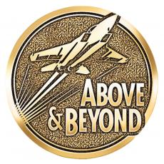 Above & Beyond Jets - Above and Beyond Jets Brass Medallion