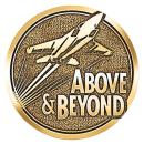 Above and Beyond Jets Brass Medallion